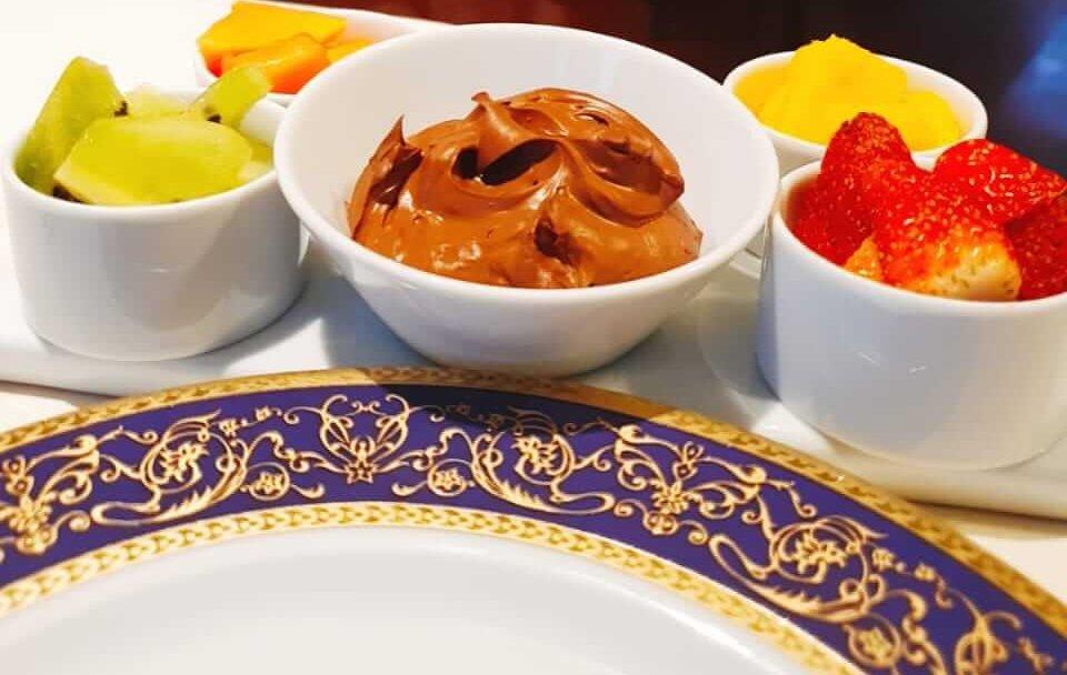 fondue saudável doce